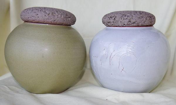 普洱型茶茶葉罐 特殊釉料 手拉胚 台灣工藝家制K05